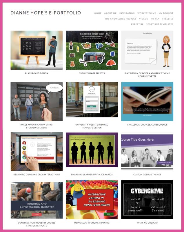 example of dianne's instructional design portfolio