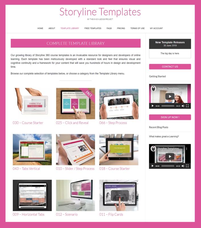 storyline templates instructional design portfolio example